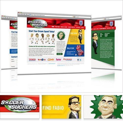 SoccerSuckers website design
