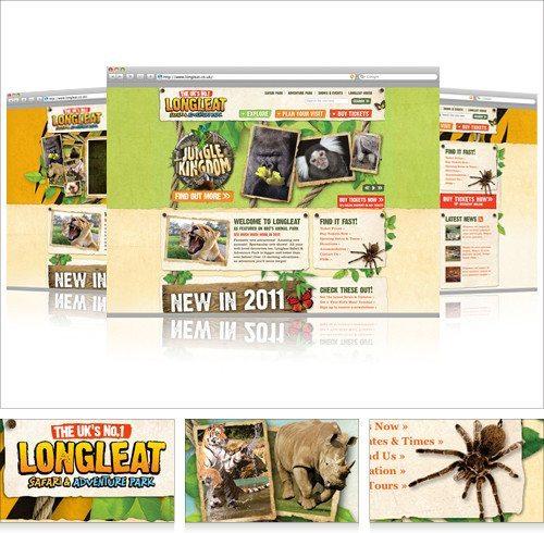 Longleat Safari & Adventure Park website design