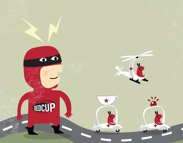 Red Cup Coffee illustration