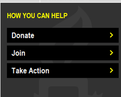 Charity support options