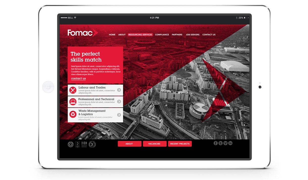 Fomac website design