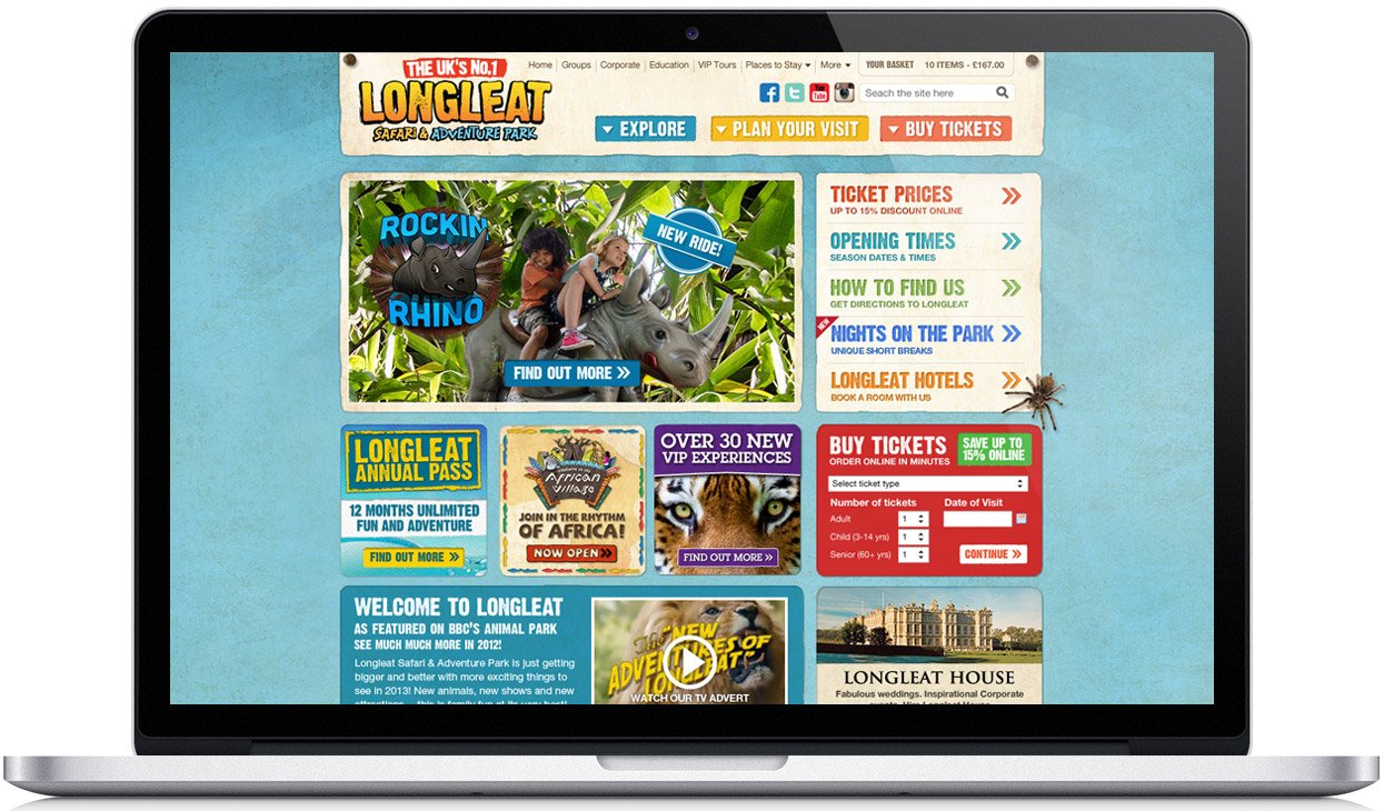 Longleat e-commerce website design
