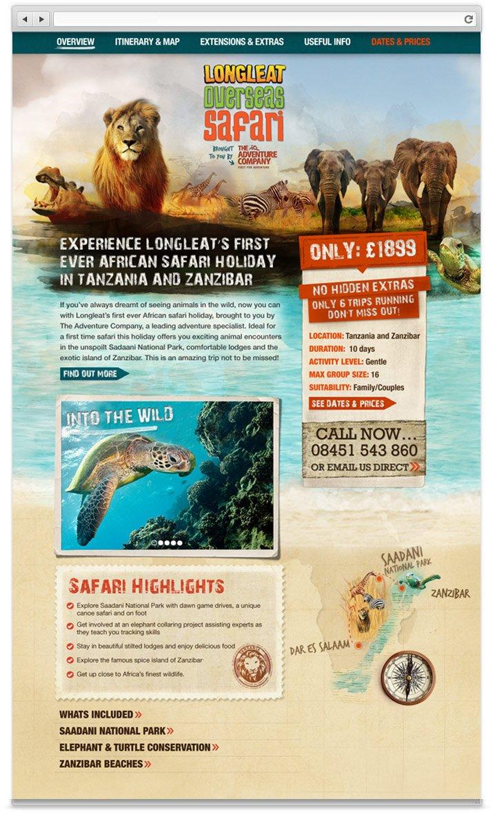 Overseas Safari website design