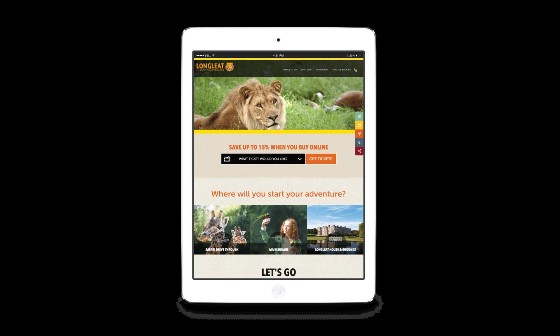 Longleat Responsive Website Designers