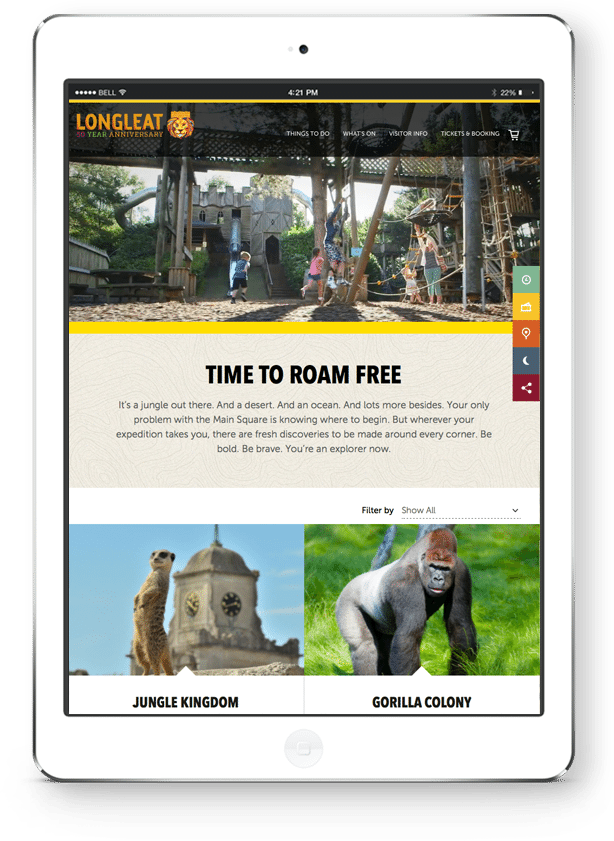 Responsive Website Design - Inner page - Tablet
