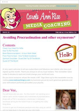 Email marketing design example