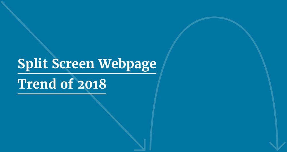 Split screen webpage design - Feelingpeaky Ltd