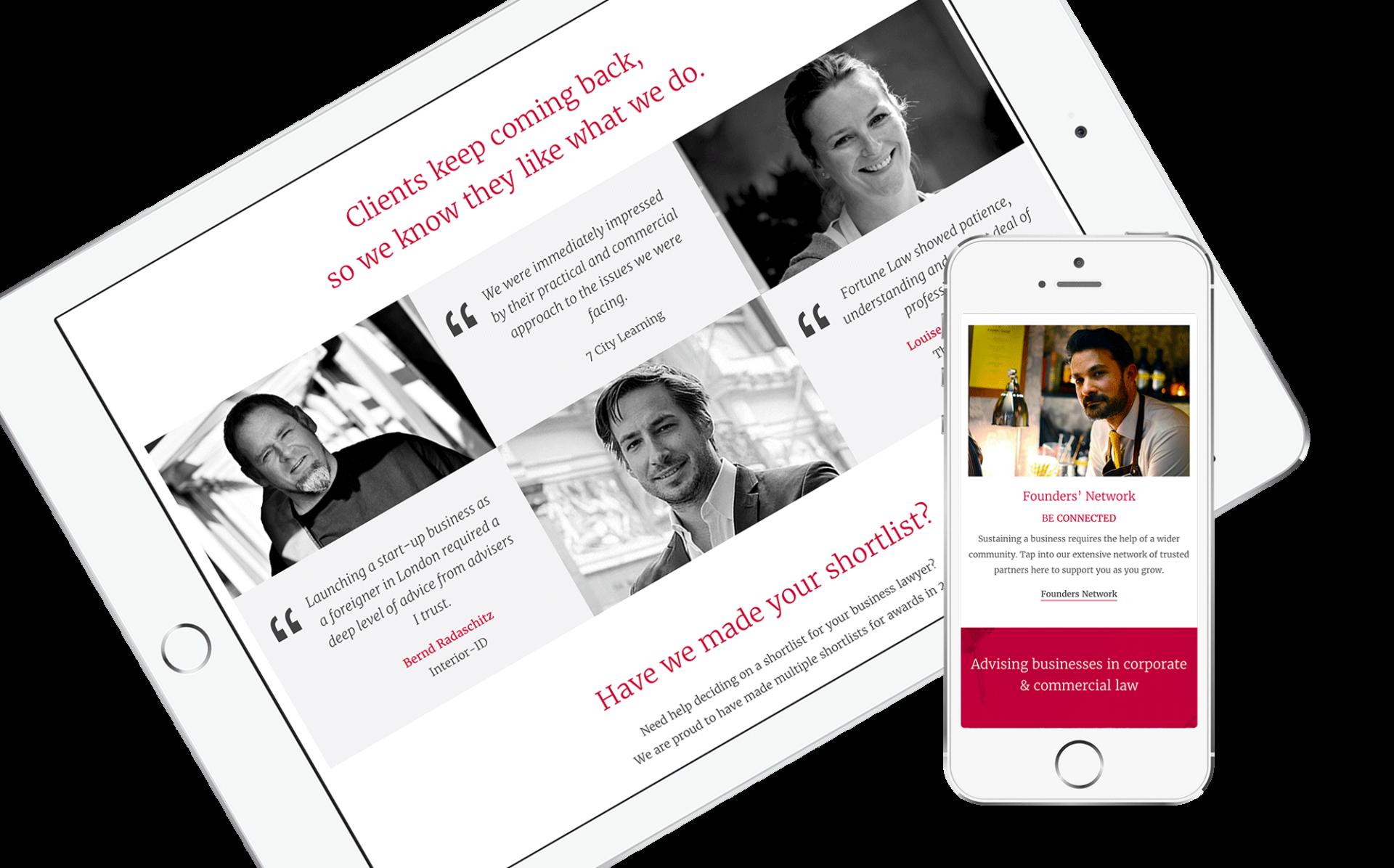 Fortune Law - website design by Feelingpeaky Ltd
