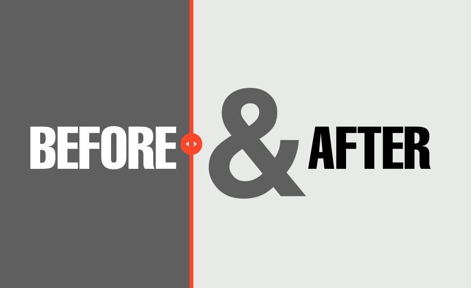 Website redesign - Before & After